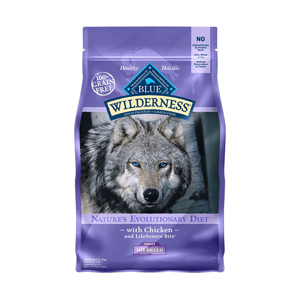 Blue Buffalo® Wilderness™ Nature's Evolutionary Diet Grain Free Chicken Toys Breed Adult Dog Food 4 Lbs