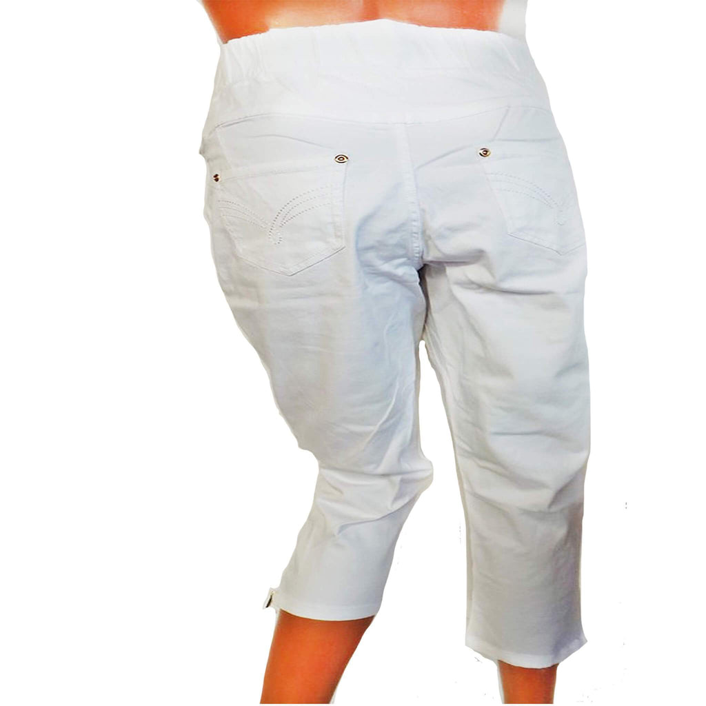 Avon Apparel Ladies White Cropped Jeggings - Size 14/16