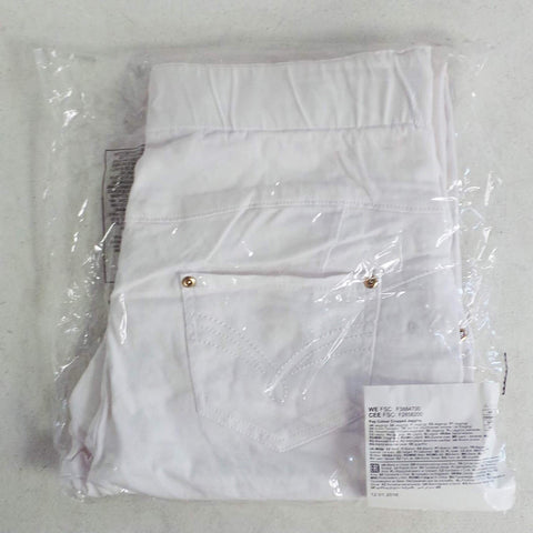 Image of Avon Apparel Ladies White Cropped Jeggings - Size 14/16