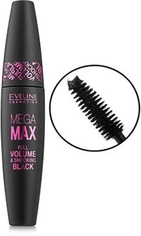Eveline Beauty Eveline Mega MAX Full Volume Shocking BLACK Mascara