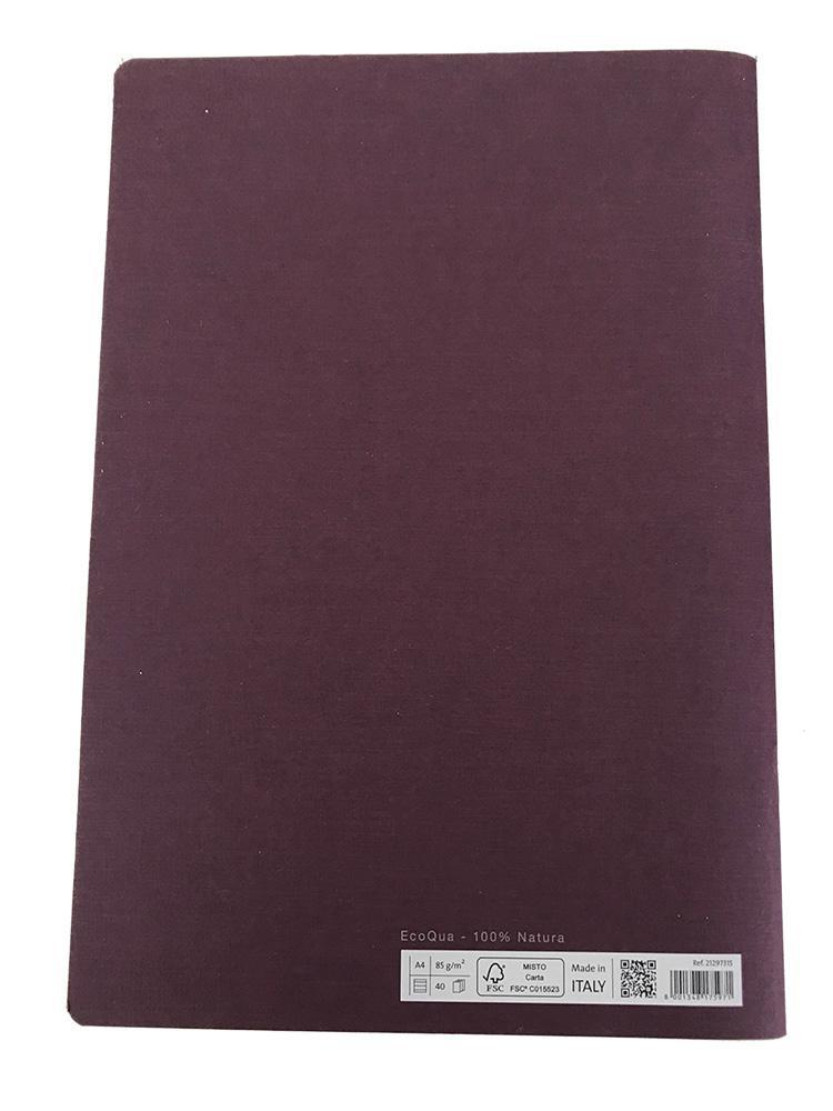 Fabriano Office Product 1 x Fabriano A4 Staple Bound Lined Notebook - Purple Fabriano A4 Stapled Notebook - Purple