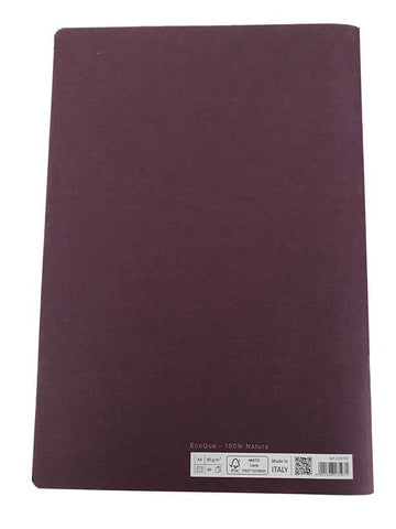 Image of Fabriano Office Product 1 x Fabriano A4 Staple Bound Lined Notebook - Purple Fabriano A4 Stapled Notebook - Purple