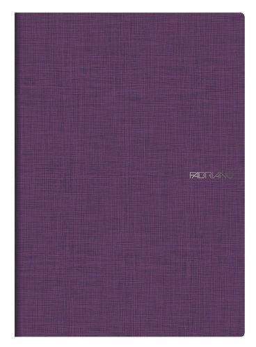 Fabriano Office Product 2 x Fabriano A4 Staple Bound Lined Notebooks - Purple Fabriano A4 Stapled Notebook - Purple