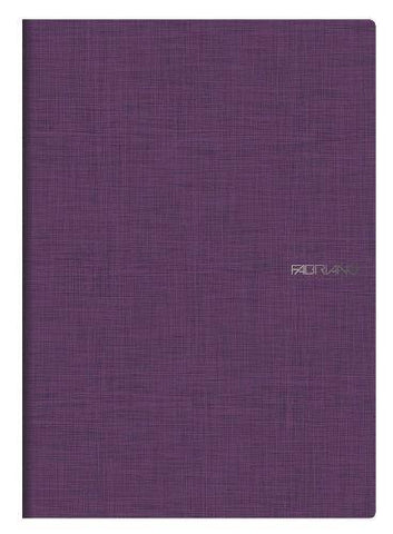 Image of Fabriano Office Product 2 x Fabriano A4 Staple Bound Lined Notebooks - Purple Fabriano A4 Stapled Notebook - Purple