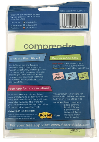 FlashSticks Post-it Notes Office Product FlashSticks Post-it Notes - French Beginner