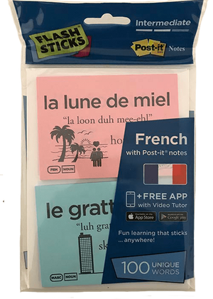 FlashSticks Post-it Notes Office Product FlashSticks Post-it Notes - French Intermediate