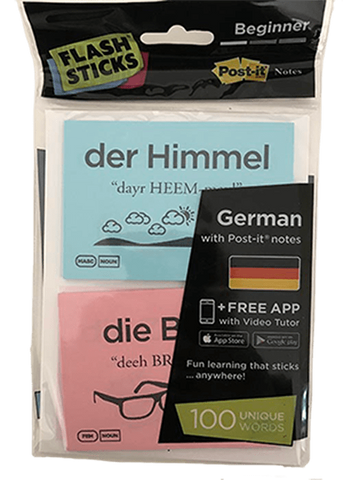 FlashSticks Post-it Notes Office Product FlashSticks Post-it Notes - German Beginner