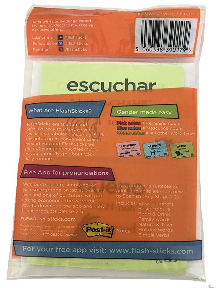 FlashSticks Post-it Notes Office Product FlashSticks Post-it Notes - Spanish Beginner