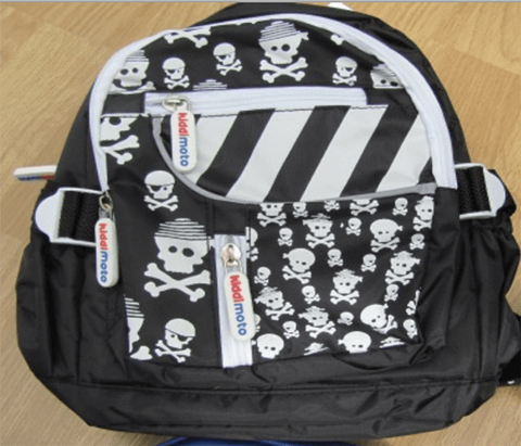 Kiddimoto Children's Accessories Skullz Kiddimoto Small Toddler Back Packs