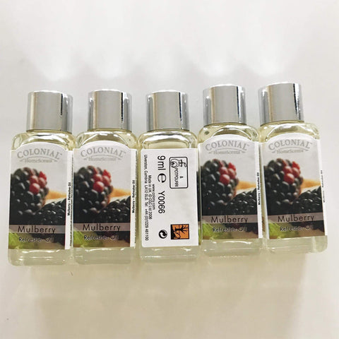 Laguna Lifestyle Fragrance Oil 5 x Wax Lyrical Fragrance Scented Mulberry Oils - 9ml