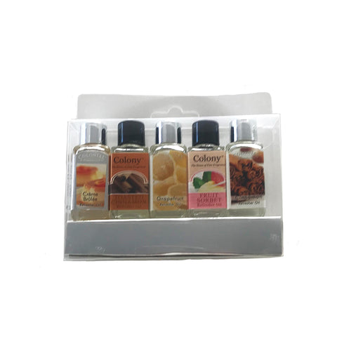 Laguna Lifestyle Fragrance Oil 5 x Wax Lyrical Fragrance Scented Oils- Silver Set