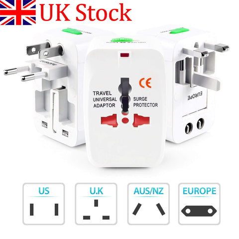 Laguna Lifestyle Universal Travel Adapter 1 x Universal Travel Adapters with 2 USB ports Universal World Wide Travel Adapter with 2 USB Ports