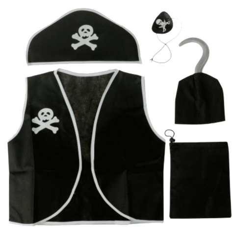 Trixes Children's Accessories Kids Pirate Fancy Dress Boys/Girls Costume
