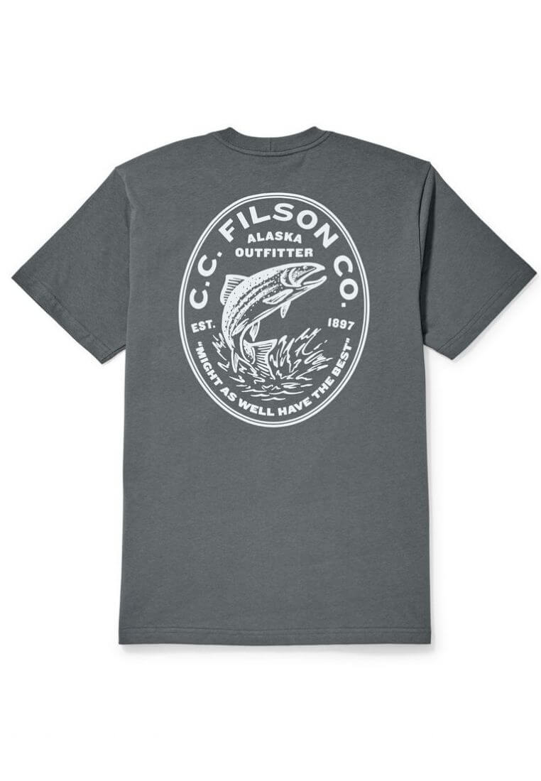 Filson Outfitter Graphic T-Shirt Blue Steel T-Shirt - FASANIS