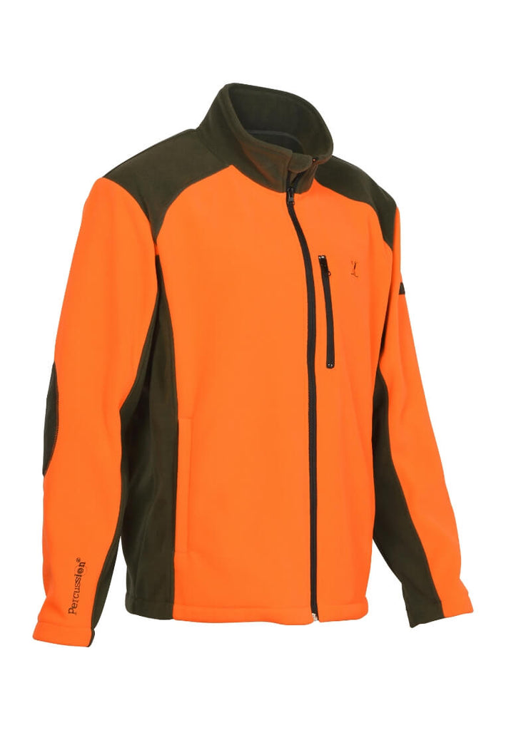 Percussion Cor Fleece Jacke Orange Fleecejacke - FASANIS