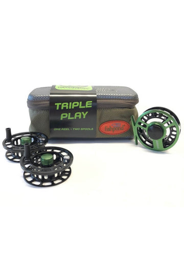 Cheeky Boost Triple Play Fly Reel and Spool Bundle