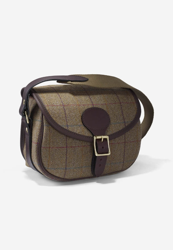 Croots Helmsley Tweed Cartridge Bag Burgundy Schultertasche - FASANIS