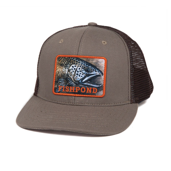 Fishpond Slab Trucker Hat - Sandstone/Brown Cap - FASANIS