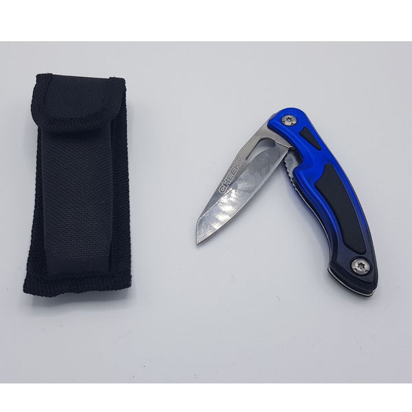 Cheeky Fishing 300 Folding Knife Blue/Black Messer - FASANIS