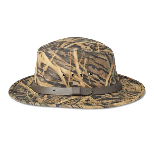 Filson x Mossy Oak® Camo Tin Cloth Packer Hat Hut - FASANIS