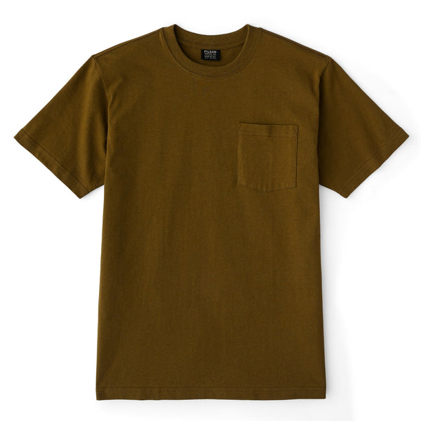 Filson S/S Outfitter Solid Pocket T-Shirt Olive Drab - FASANIS