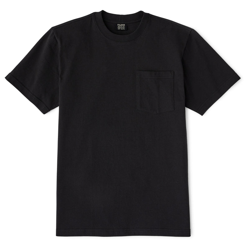 Filson S/S Outfitter Solid Pocket T-Shirt Faded Black T-Shirt - FASANIS