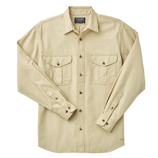 Filson Lightweight Alaskan Guide Shirt Light Khaki Hemd - FASANIS