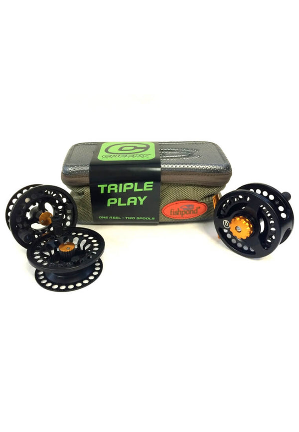 Cheeky Tyro Triple Play Fly Reel and Spool Bundle Fliegenrolle - FASANIS