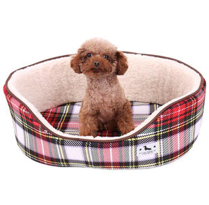 Plaid Pet Bed