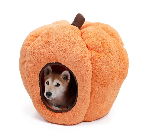 Fuzzy Pumpkin Bed