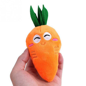 Eat Your Veggies Carrot Plush Chew Toys