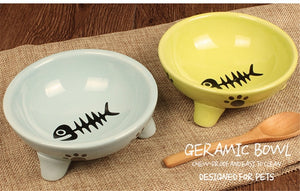 Anti-Slip Fish Bone Ceramic Bowl
