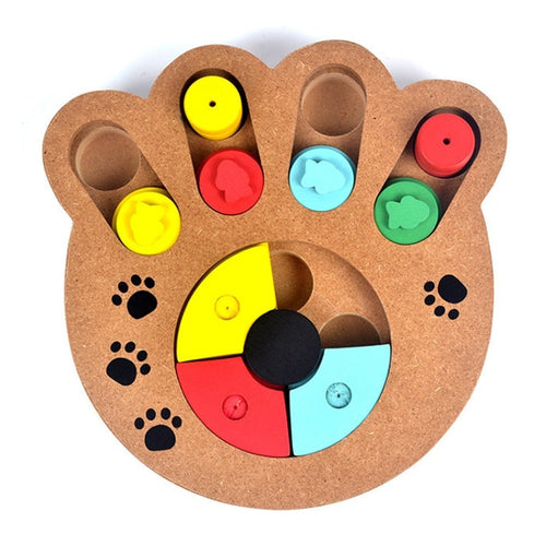 Paw Puzzle Plate Game - IQ Training Toy