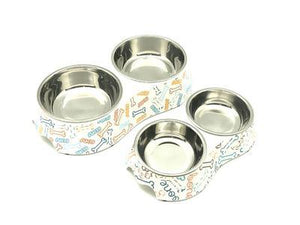 Fun Graphic Stainless Steel Pet Bowl