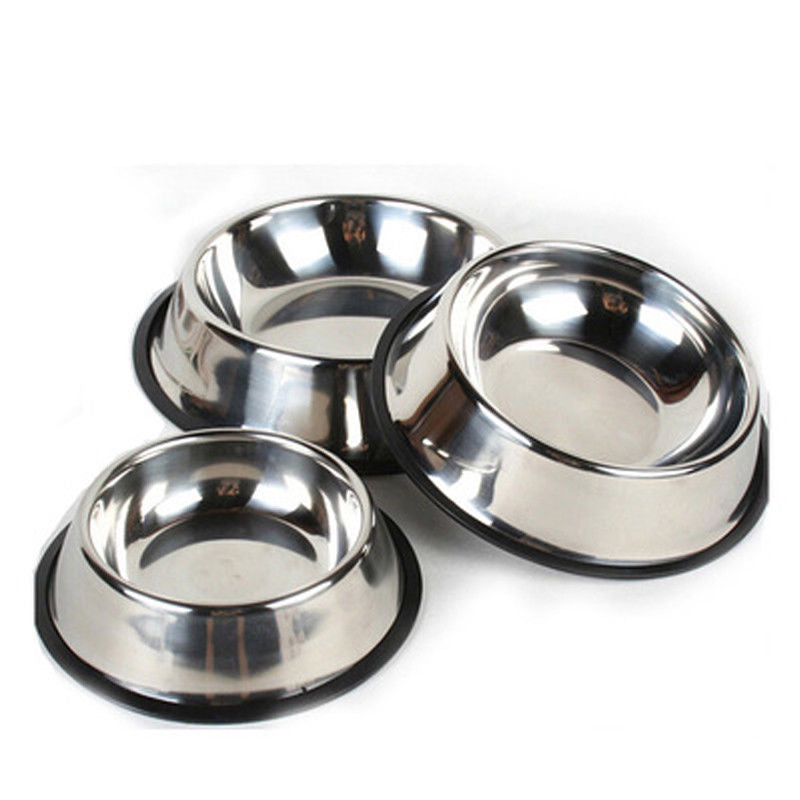 Simple Stainless Steel Pet Bowl