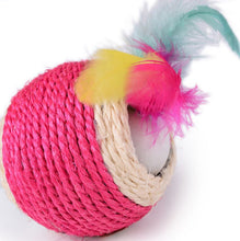 Load image into Gallery viewer, Sisal Rope Trapped Ball Toy
