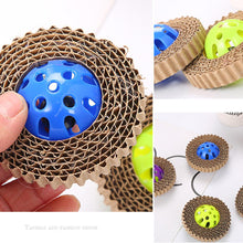 Load image into Gallery viewer, Corrugated Paper Trapped Ball Toy