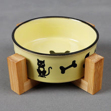 Load image into Gallery viewer, Ceramic Bowl With Wood Base