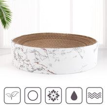 Load image into Gallery viewer, Large Marble Print Round Pet Bed With Cardboard
