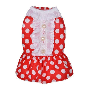 Classic Red Polka-Dot Dress