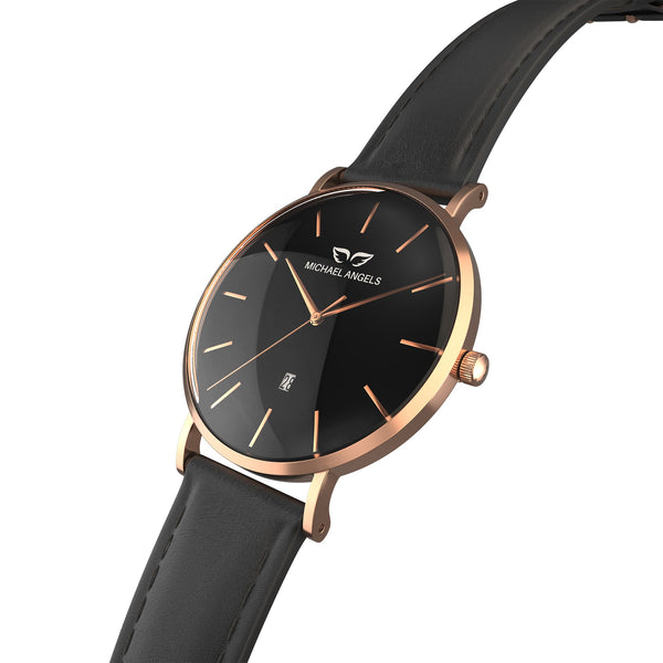 My Rose-Noisette Angel + Leather Band