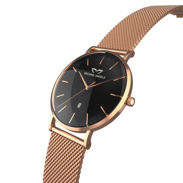 My Rose-Bicolor Angel + Rosegold Mesh Band