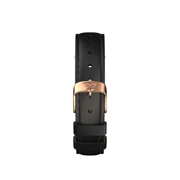 Rose-Classic Black Leather Band