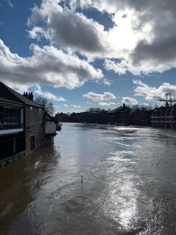 River Ouse in flood, York