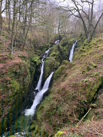 Stock Ghyll Force Waterfall in Cumbria