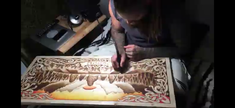 Pyrography by Villkat arts for northern fire