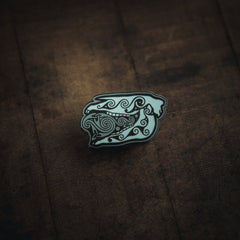 Mari Lwyd enamel pin exclusively available on Northern Fire