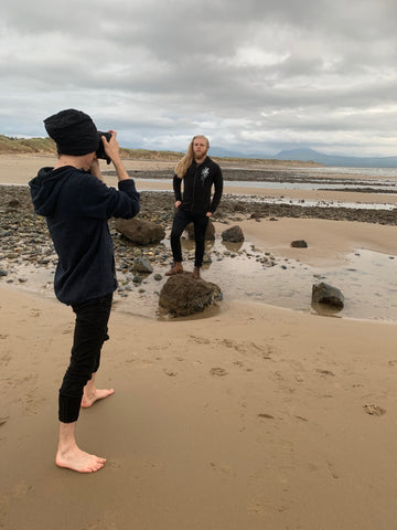 northern fire, artistic collective, anglesey, newborough beach, jamie massie, photoshoot