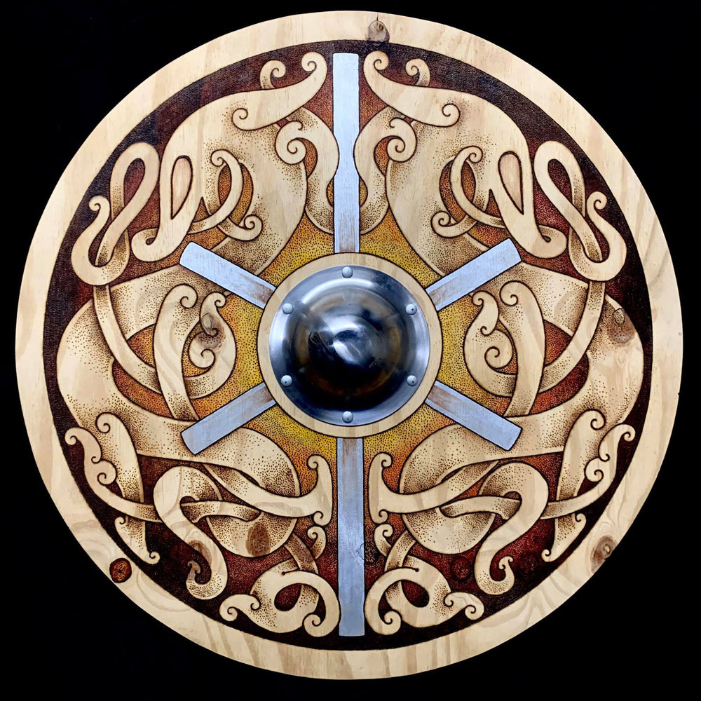 Celtic Pyrography Shield (UK Shipping Only)