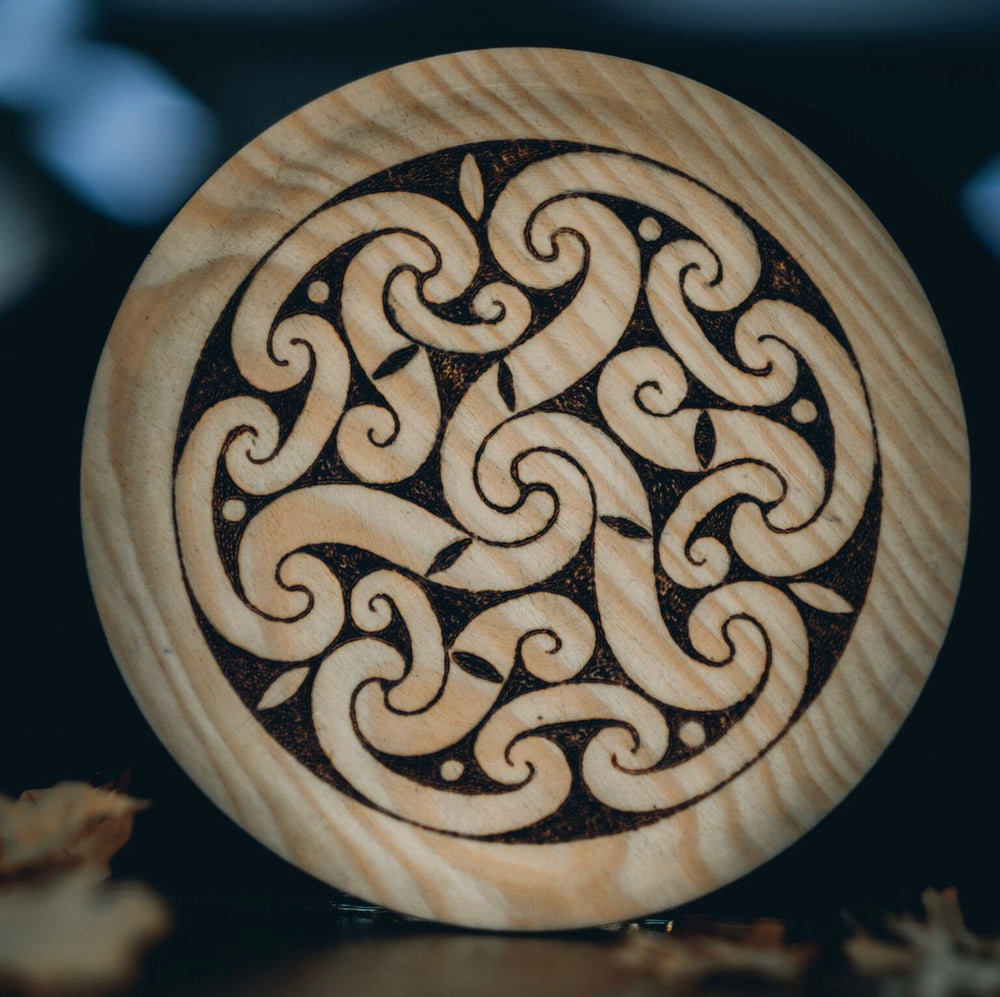 Celtic Triskel Wooden Plate